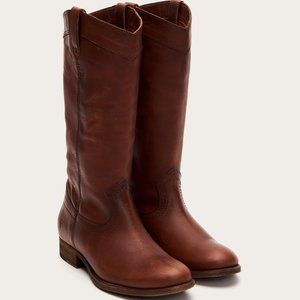 Frye Melissa Pull On Boots in Cognac 9B